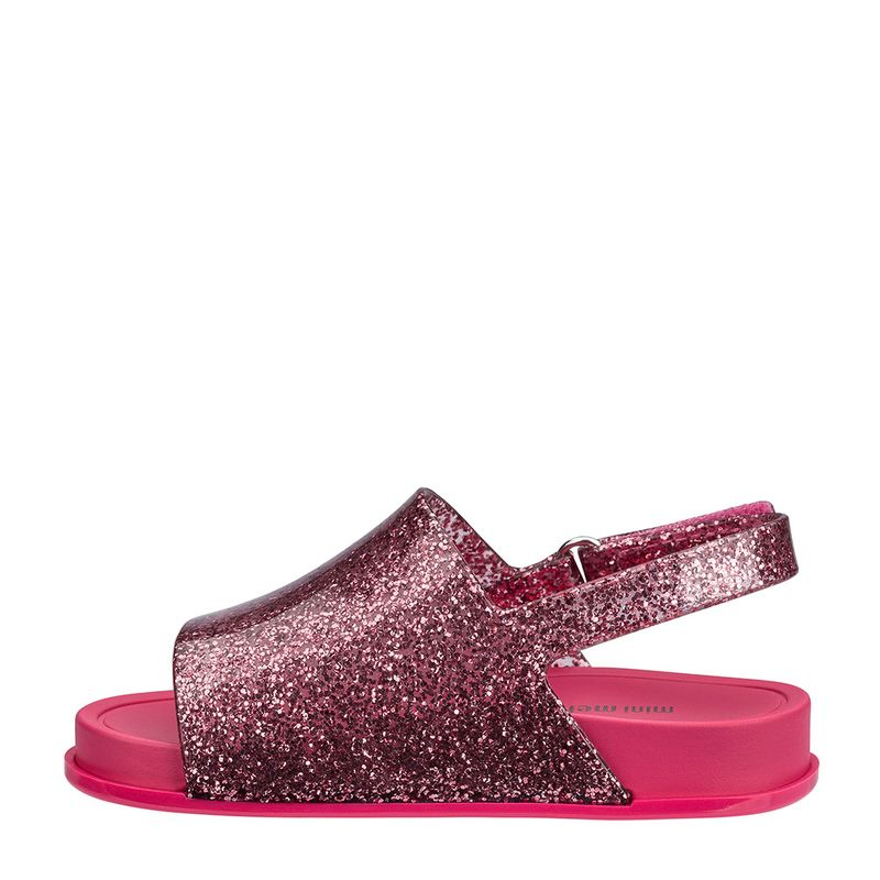 31997-Mini-Melissa-Beach-Slide-Sandal-RosaGlitter-Esquerda