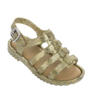 Mini Melissa Flox Dourado Glitter