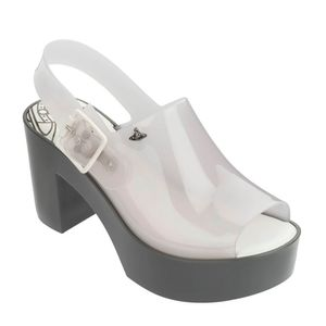 Melissa Mule + VWA Cinza Branco Leitoso