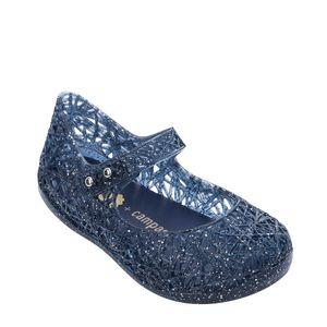 Mini Melissa Campana Zig Zag Vi Azul Transp Glitter Prata Misto