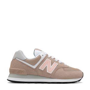 Tênis New Balance 574 Bege Laranja Branco