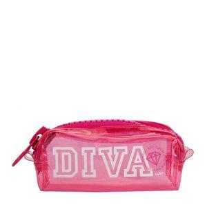 Necessaire College Mega Ziper Glitter Uatt? Diva