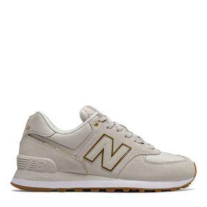 Tênis New Balance 574 Bege Dourado