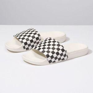 Chinelo Vans Slide-On Checkerboard White Black