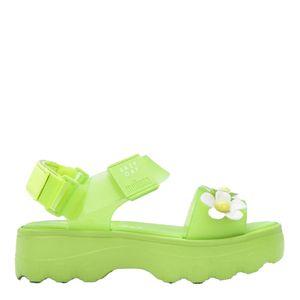Melissa Kick Off Sandal + Lazy Oaf Verde Branco Amarelo