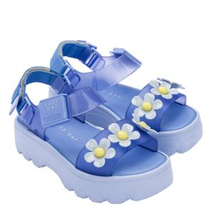 Melissa Kick Off Sandal + Lazy Oaf Azul Amarelo