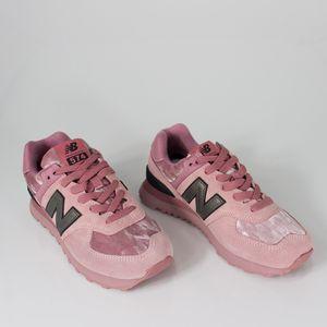 Tênis New Balance 574 Rosa Preto Branco