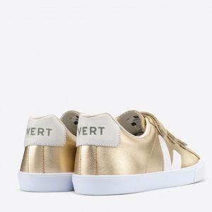 Tênis Vert 3-Lock Logo Couro Platine White
