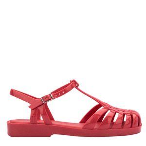 Melissa Aranha Quadrada Vermelho Glitter