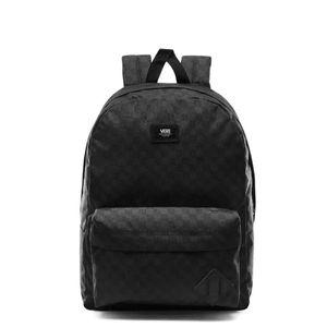 Mochila Vans Old Skool Check Backpack Black Charcoa